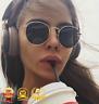 Mirror Sunglasses Women/Men Classic Round Outdoor goldframe alloy glasses UV400