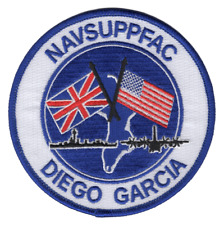 """Diego Garcia Naval Support Facility Patch 4.5"""" x 4.5"""" DS605"""