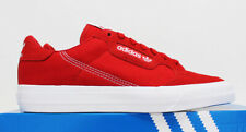NIB ADIDAS Continental Vulc Men's Canvas Suede Scarlet Red Low Sneakers Shoes