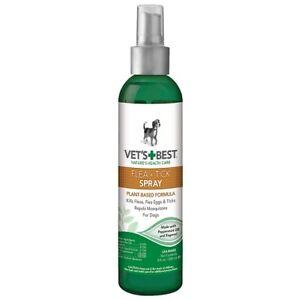 Bramton Vets Best Natural Formula Kills Fleas & Ticks Spray - 8 Fl. Oz./236 ml