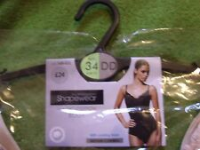 BHS Shapewear Body Shaper Magic Cotton Bodysuit Nude 34 DD