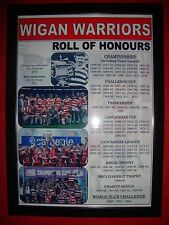 Wigan Warriors club history roll of honours - framed print