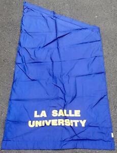 Vintage La Salle University Explorers Banner Street Post Flag 4'x8' Big 5 Phila.