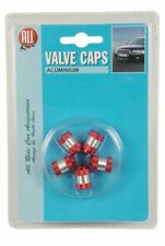 All Ride Valve Caps – Pack of 5 – Red/Silver