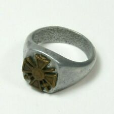 War Wwi 1918 French France Soldiers Trench Art Ring Croix De Guerre Bi-Metal