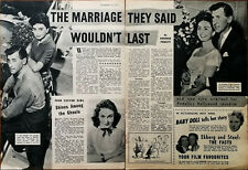 Stewart Granger & Jean Simmons The Mariage They Said Wouldn'T Last Article 1957