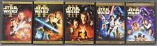 Lot Star Wars Saga DVD Movie Collection Episode 1 2 3 4 5 (10) Disc Set
