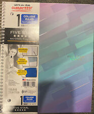 Mead Five Star 1 Subject College Rule 100 Sheets Spiral Notebook
