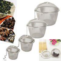 Reusable Stainless Steel Filter Mesh Infuser Herbal Ball Tea Spice Strainer ! !