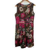 Leesa Fashions Womens Dress Size 12 Multicoloured Floral Sleeveless V-Neck