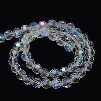 15 Crystal AB Rondell 10mm Tschechische Kristall Perlen Glas Schmuck BEST X205