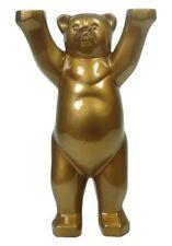 BUDDY BEAR Berlin Bronze Edition NEU/OVP Uni Farbe Berliner Bär 22cm +Glasplatte