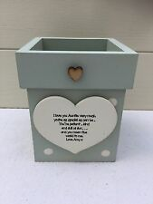 Personalised Shabby Flower Pot Chic Aunty Auntie Gift Great Aunt ANY NAME