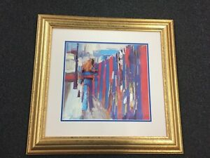 Nicola Simbari Pallisades print recently custom framed