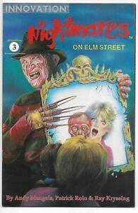 Nightmares On Elm Street #3 Mangels Rolo Kryssing Innovation 1991 VFN / NM