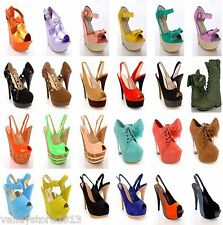 RX1 NIB 20 Womens Wholesale Lot Mix High Heel Platform Evening Pump Sandal Shoes
