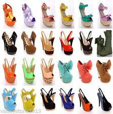 RX1 NIB 30 Womens Wholesale Lot Mix High Heel Platform Evening Pump Sandal Shoes