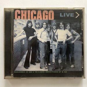 CHICAGO - LIVE CD 'Very Rare'