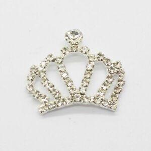 Metal Crown Decorations Embellishment Buttons Set Rhinestone Crafts DIY Weddings
