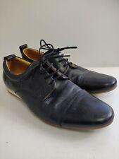 Mens Zara Man Black Leather Formal Shoes Size 9.5