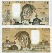 Gertbrolen 500 FRANCS PASCAL du 6-8-1992    S. 396 Billet Numéro  989203169