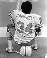 Houston Oilers EARL CAMPBELL Glossy 8x10 Photo NFL Football Print Poster
