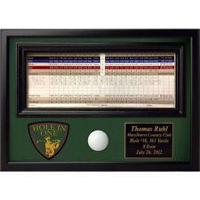 Fully Customized Engraved Golf Hole in One Commemorative Award scorecard holder