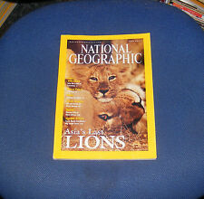 NATIONAL GEOGRAPHIC MAGAZINE JUNE 2001 - CHILE CAVES/MARCO POLO II/ASIATIC LIONS