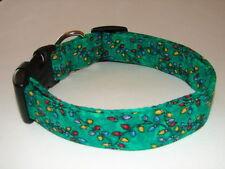 Charming Green with Christmas Lights Dog Collar Large