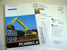 Komatsu Pc400Lc-6 Advance Hydraulic Excavator Color Brochure