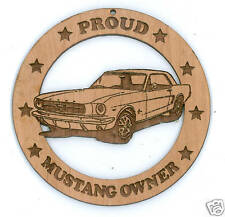 64 65 66 Ford Mustang Coupe Wood Ornament Engraved
