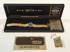 VTG Vulcain 17 Jewel Blue Men's Watch New in Original Box w/papers Runs Italy