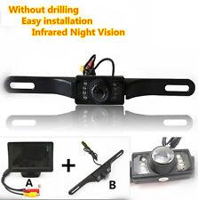 """Infrared Night Vision CCD Reversing Camera 4.3""""TFT Screen Monitor Display Kits"""