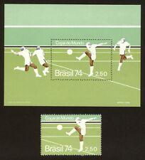 BRAZIL stamp 1974 World Cup Championship - Soccer - Scott# 1351 RHM B-36
