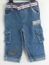 DISNEY BABY Girl Size 18 Months Blue Denim Cargo Jeans
