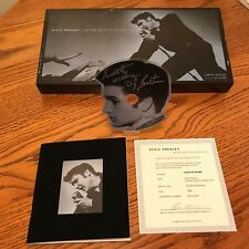 ELVIS PRESLEY LIMITED EDITION SHAPED CD WITH BOOKLET & C.O.I  NUMBERED ~ 4,214