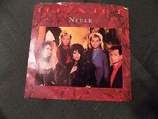 HEART - Never(Remix) Shell Shock 45 & Picture Sleeve 1985 ANN & NANCY WILSON