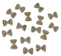 25 Gold Resin Bows Filled with Iridescent Glitter Flat Back Embellishments Craft