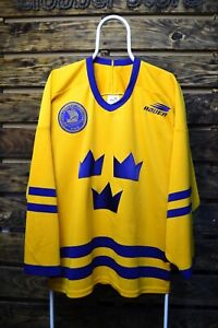 Sweden Ice hockey National team Jersey Svenska Bauer H. W. Made In Canada Shirt