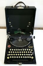 Antique Remington Portable Typewriter with Glass Keys and Original Case
