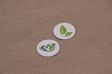 100 pieces round shape cup & leaves paper tags + string, DIY Tea bag tags