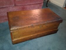 Antique Handmade Wooden Carpenters Tool Chest Box Primitive