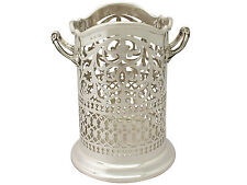 Antique Edwardian Sterling Silver Bottle Coaster