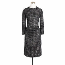 NWT - J.CREW - Collection Black Tweed Dress - size 0 (Ivory Black) $248