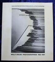 WILLY ZIELKE Photographies 1923-1937 - Catalogue Musée Réattu 1982