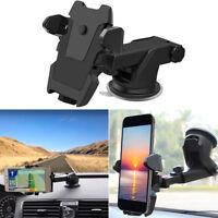 Universal 360° car holder windshield mount bracket for mobile cell phone gps E&F