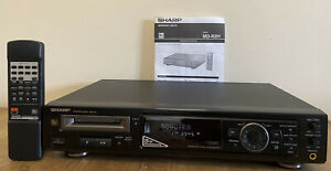 Sharp MD-R2H Minidisc Player with Remote + Manual - Very Good
