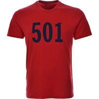 Men's Levi's Graphic 501  Solid Logo Crew Neck  T-shirt S-2XL