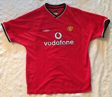 2001/2002 MANCHESTER UNITED UMBRO JERSEY PREMIER LEAGUE SOCCER MENS SIZE SMALL