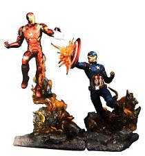 "Marvel Milestones Civil War Iron Man VS Captain America LE 21"" Tall Statue Set"